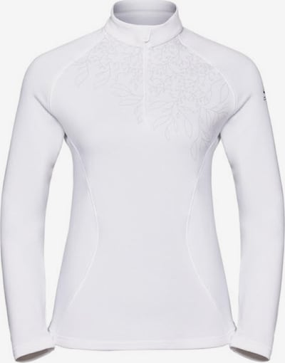 ODLO Shirt 'Midlayer 1/2 zip GLADE' in weiß, Produktansicht
