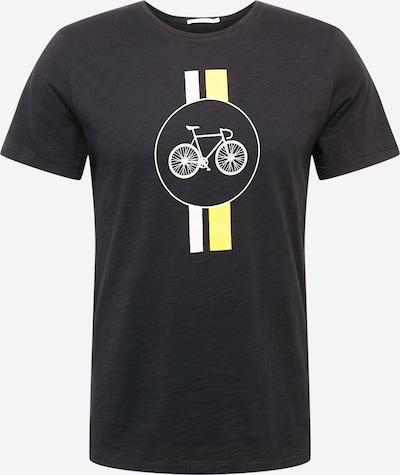GREENBOMB T-Shirt 'Bike High Way' in gelb / schwarz / weiß, Produktansicht