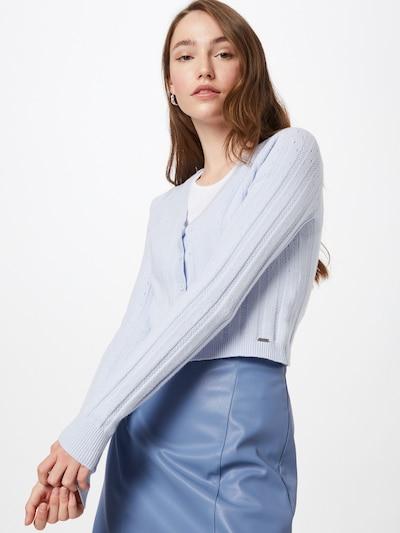 HOLLISTER Cardigan 'ASIA' en bleu clair, Vue avec modèle