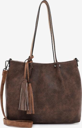 Emily & Noah Shopper ' Bag in Bag Surprise ' in braun / hellbraun, Produktansicht