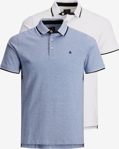 JACK & JONES Poloshirt 'Paulos' in hellblau / dunkelblau / weiß, Produktansicht