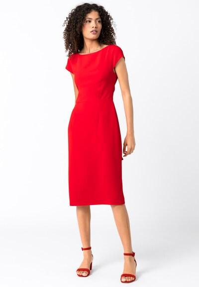 HALLHUBER Etuikleid mit Schleifengürtel in rot, Modelansicht