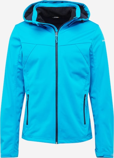 ICEPEAK Outdoorjas 'BIGGS' in de kleur Turquoise / Wit, Productweergave