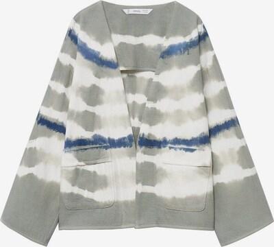 MANGO KIDS Strickjacke 'Indy' in dunkelblau / grau / naturweiß, Produktansicht