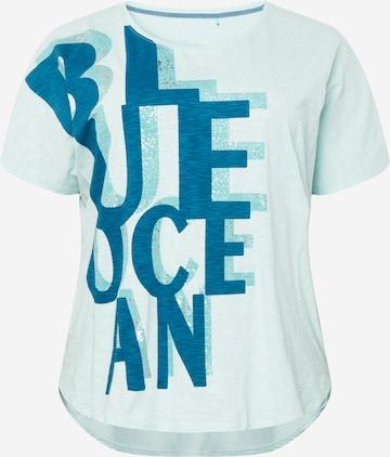 SAMOON Shirt in Blue