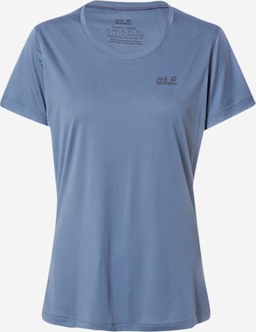 T-shirt fonctionnel JACK WOLFSKIN en bleu