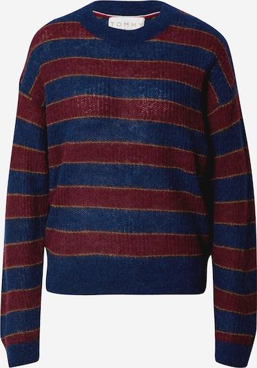 TOMMY HILFIGER Pullover in dunkelblau / rot, Produktansicht