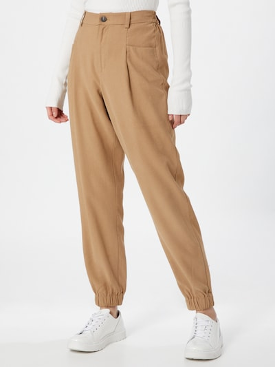 ONLY Pleat-front trousers 'Emery' in Light brown, View model
