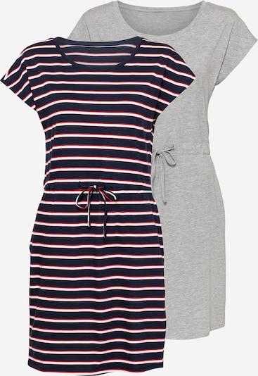 VERO MODA Kleid 'APRIL' in marine / grau / rot / weiß, Produktansicht