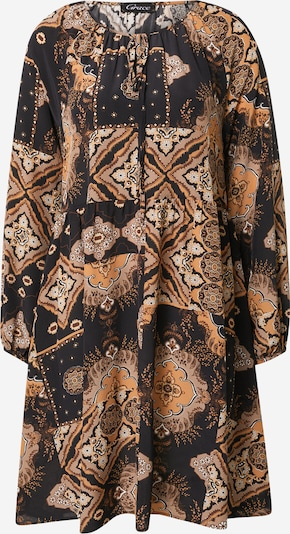 Rochie tip bluză Grace pe maro cămilă / gri-maro / negru, Vizualizare produs