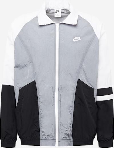 Nike Sportswear Between-Season Jacket in Grey / Black / White, Item view