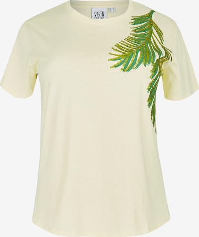 Rock Your Curves by Angelina K. T-Shirt in hellgelb / grün, Produktansicht