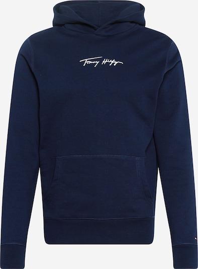 TOMMY HILFIGER Sweat-shirt en bleu nuit / blanc, Vue avec produit
