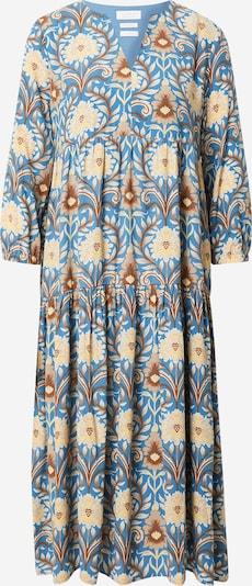 Rich & Royal Kleid in blau / karamell / pastellgelb, Produktansicht