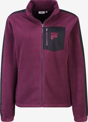 FILA Fleece Jacket 'RINA' in Purple