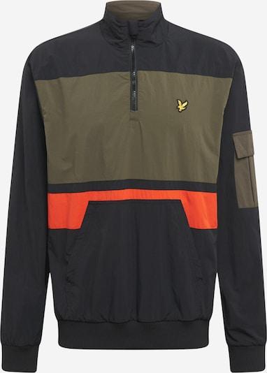 Lyle & Scott Tussenjas in de kleur Kaki / Sinaasappel / Zwart, Productweergave