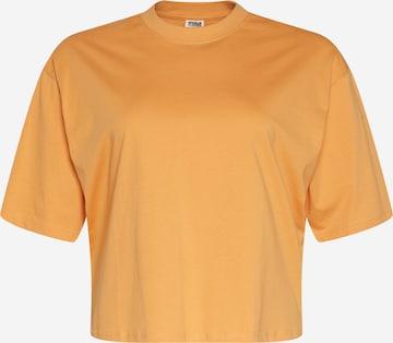 oranžinė Urban Classics Curvy Marškinėliai