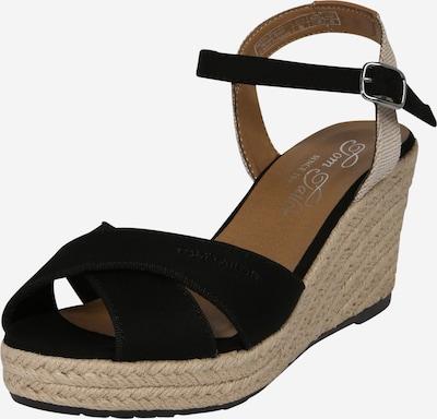 TOM TAILOR Sandale in beige / schwarz, Produktansicht