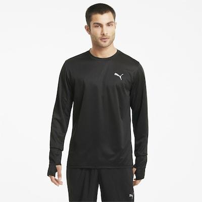 PUMA Shirt in hellgrau / schwarz: Frontalansicht