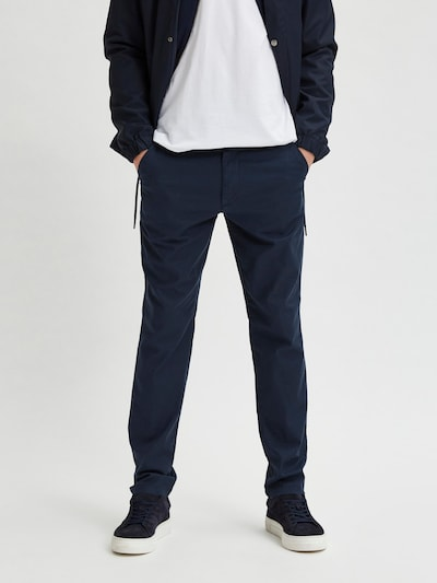 SELECTED HOMME Chino in de kleur Donkerblauw, Modelweergave