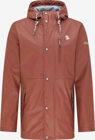 Schmuddelwedda Jacke in rostbraun / weiß, Produktansicht