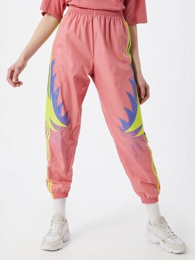ADIDAS ORIGINALS Pantalon en bleu fumé / jaune / rose, Vue avec modèle