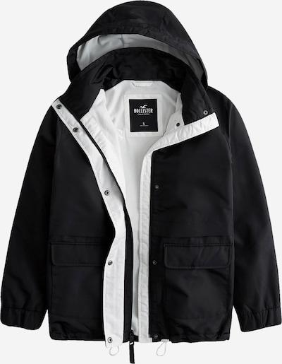 HOLLISTER Overgangsjakke i sort / hvid, Produktvisning