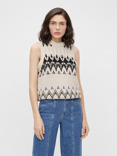 OBJECT Pullover 'Myrtle' in beige / mischfarben, Modelansicht