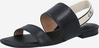 Lauren Ralph Lauren Sandály 'KARTER' - černá / bílá, Produkt