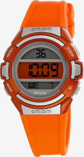 AM:PM Digitaluhr 'Colorful electronic sport watch' in orange, Produktansicht