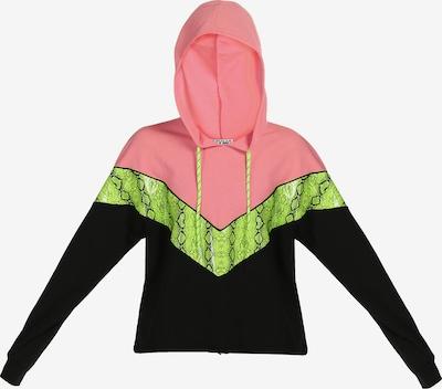 myMo ATHLSR Sweat de sport en kiwi / rose / noir, Vue avec produit