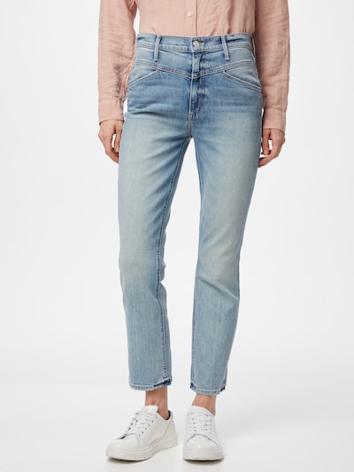 MOTHER Jeans 'THE DAZZLER YOKE' in blue denim, Modelansicht