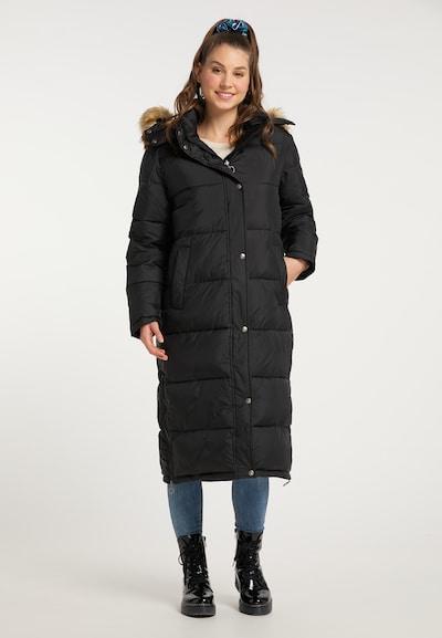 MYMO Wintermantel in de kleur Zwart, Modelweergave