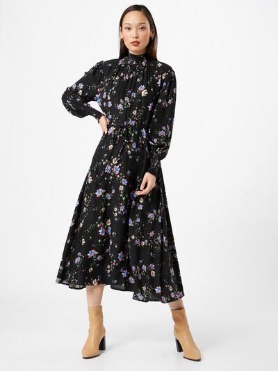 Miss Selfridge Kleid in hellblau / hellgelb / mischfarben / lachs / schwarz, Modelansicht