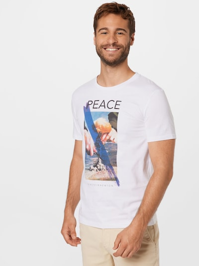 EINSTEIN & NEWTON Тениска в синьо / пъстро / черно / бяло: Изглед отпред