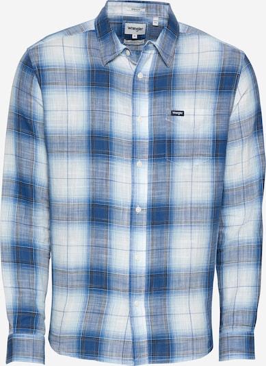 WRANGLER Skjorta i marinblå / royalblå / vit, Produktvy
