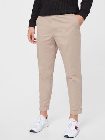 Filippa K Spodnie w kant w kolorze beżowy