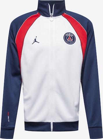 Jordan Спортно яке 'Paris Saint-Germain' в бяло