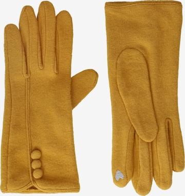 Six Handschuhe in Gelb
