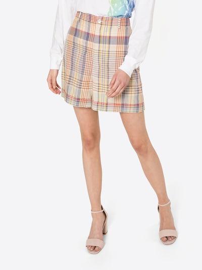 Polo Ralph Lauren Shorts 'LYDA' in hellbeige / hellbraun / lila / dunkelrot, Modelansicht