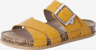 RIEKER Pantolette in goldgelb, Produktansicht