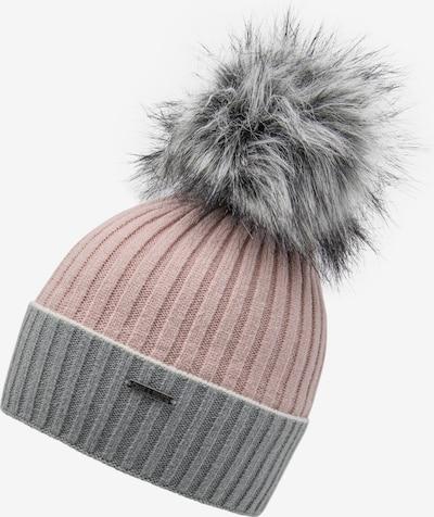 chillouts Bonnet 'Leah' en gris chiné / rosé, Vue avec produit