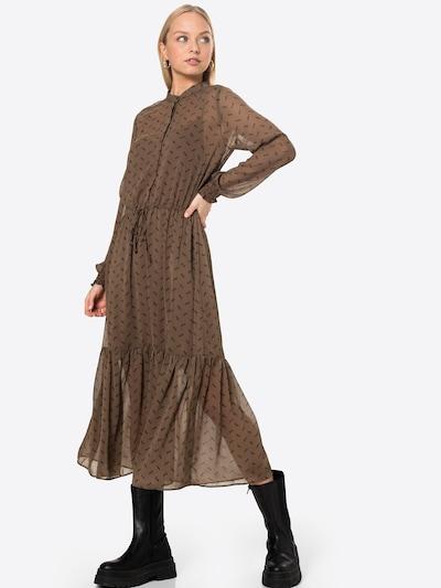 mbym Košeľové šaty 'Diaz' - hnedá / čierna, Model/-ka
