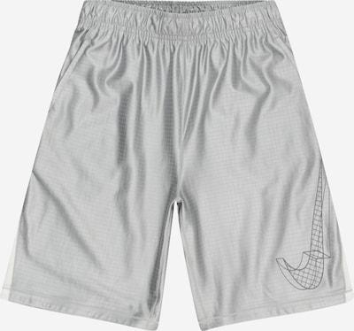 NIKE Športové nohavice - svetlosivá / strieborná / biela, Produkt