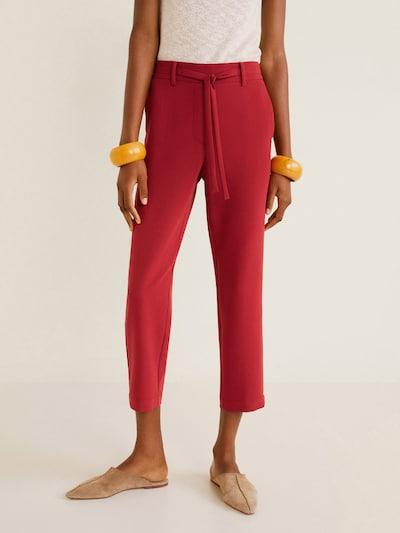 MANGO Hose 'Semiflu' in rot, Modelansicht