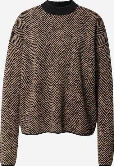 BOSS Pullover 'Fadrinas' in hellbraun / schwarz, Produktansicht