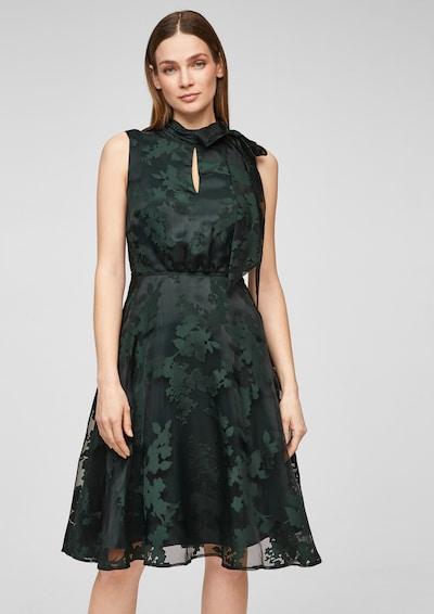 s.Oliver BLACK LABEL Kleid in dunkelgrün, Modelansicht
