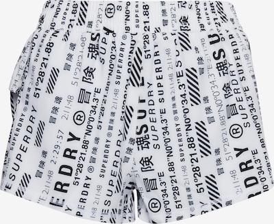 Superdry Sporta bikses, krāsa - melns / balts, Preces skats
