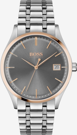 BOSS Casual Uhr 'Commissioner' in gold / dunkelgrau / silber, Produktansicht