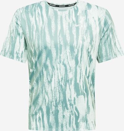 NIKE Functioneel shirt 'Miler' in de kleur Groen / Wit, Productweergave